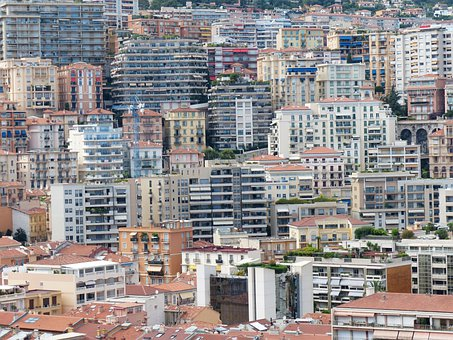 City, Skyscrapers, Monaco, City View
