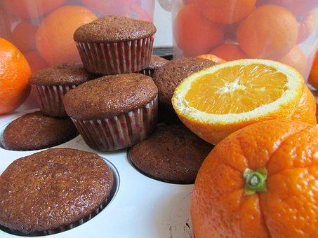 Muffin, Cookie, Cake, Orange Cake, Orange, Dessert