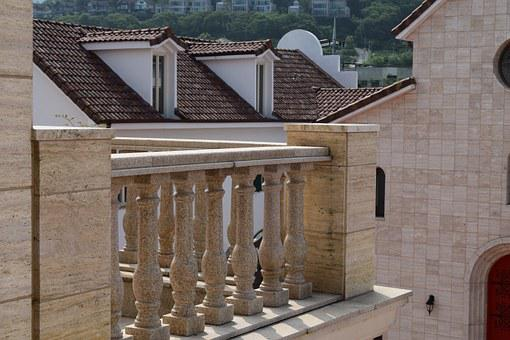 Veranda, Roof, Greece Forms, Post, Luxury, Hotel