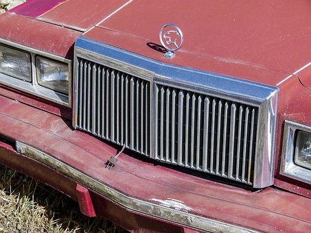 Jaguar, Classic Car, Old, Red, Rusty, Car, Vintage