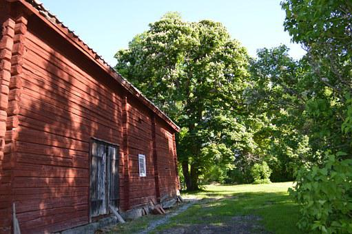 Timber Cottage, Red House, Summer, Old House, Cottage