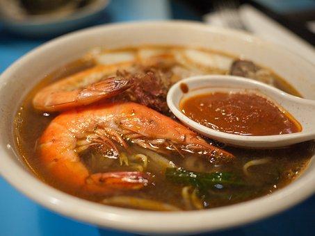 Soup, Prawn, Noodles, Food, Seafood, Cuisine, Shrimp