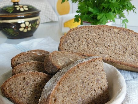 Bread, Slices, Brown, Rye, Sourdough, Healthy, Wheat