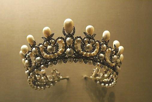 Crown, Diadem, Jewelry, Pearls, Ornament, Symbol, Style