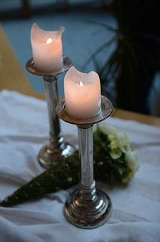 Wedding, Table, Jewellery, Deco, Candles, Restaurant