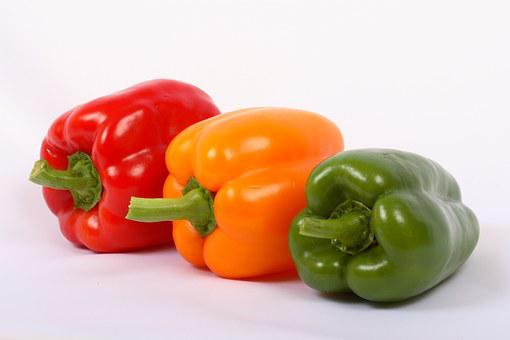 Vegetable, Red, Sweet Pepper, Paprika, Yellow, Green