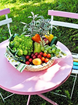 Vegetables, Garden Table, Summer, Nature