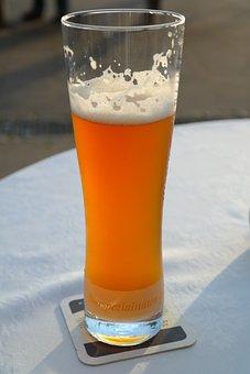 Beer, Beer Glass, Wheat Beer, Wheat, White, Drink