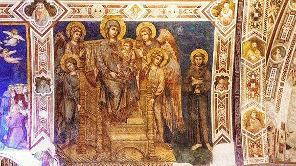 Church, Painting, Religion, Mural, Biblical Scene