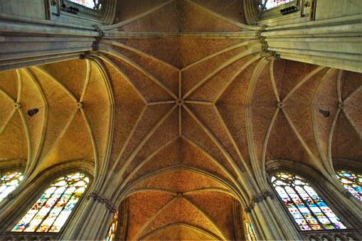 Vaulted Ceilings, Neo Gothic, Mariendom, Linz, Church