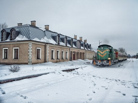 Podlaski, Poland, Train, Station, Depot, Railroad