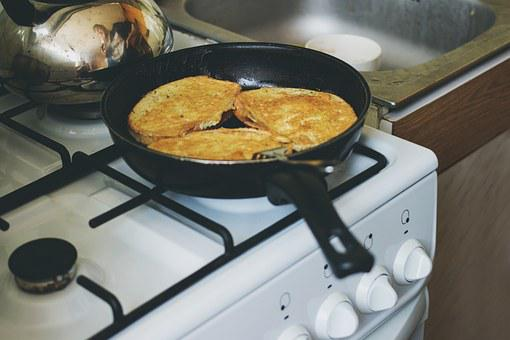 French Toast, Breakfast, Bread, Egg, Pan, Stove