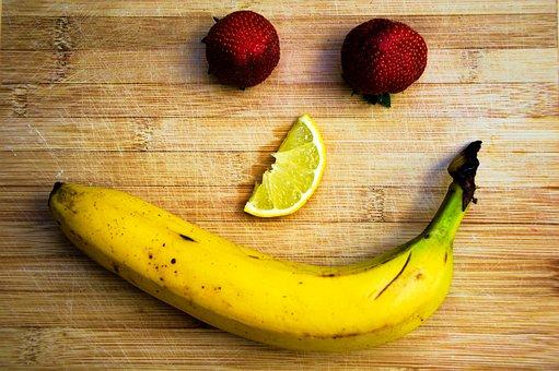 Banana, Strawberries, Fruits, Food, Fresh, Healthy