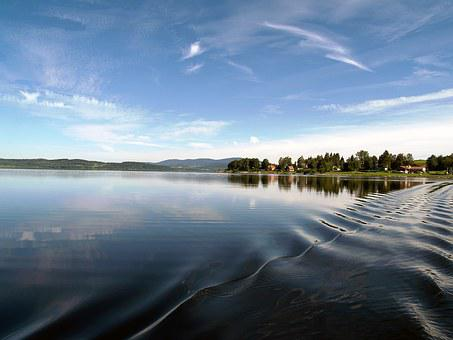 Dam Lipno, Water-level, Water, Recreation, Frymburk
