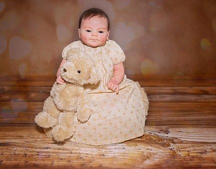 Doll, Baby Doll, Artist Doll, Baby, Girl, Female, Teddy