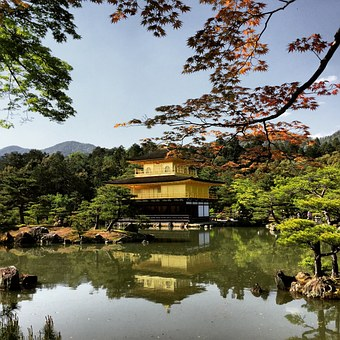 Kyoto, Japan, Goldentemple, Temple, Kinkaku-ji