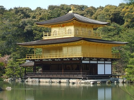 Japan, Kyoto, Golden Palace, Kyoto Prefecture