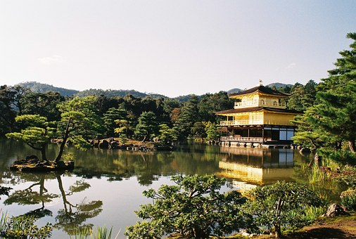 Japan, Kyoto, Kinkakuji Temple, Tourist Destination