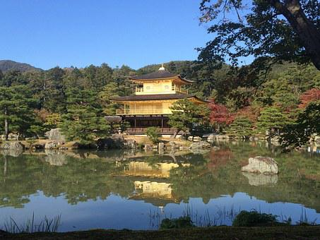Kinkaku-ji Temple, Kyoto, Gold, Temple