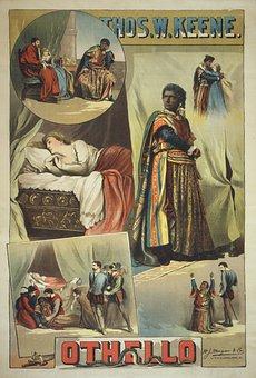 William Shakespeare, Othello, Poster, 1884