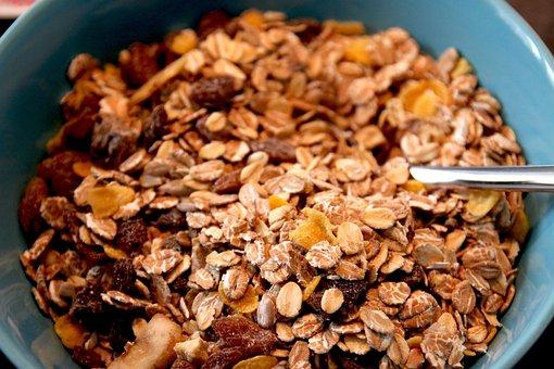 Muesli, Breakfast, Food, Eat, Healthy, Raisins
