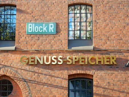 Hamburg, Speicherstadt, Brick, Red, Building