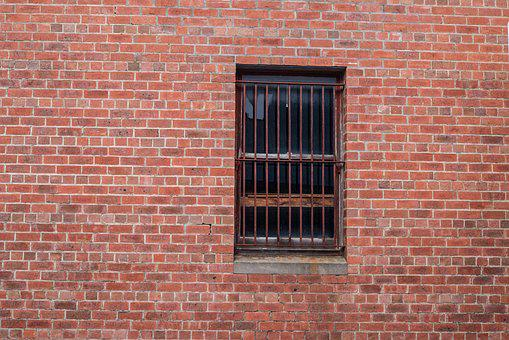 Wall, Window, Brick, Background, Brick Wall, Bars, Rust