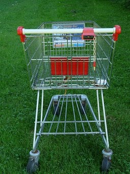 Shopping Cart, Shopping, Supermarket, Wire Basket