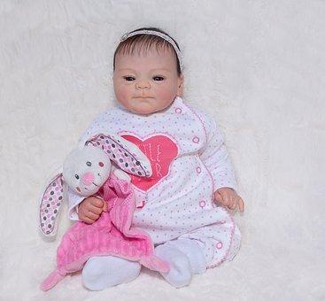 Doll, Baby Doll, Artist Doll, Baby, Stuffed Animal