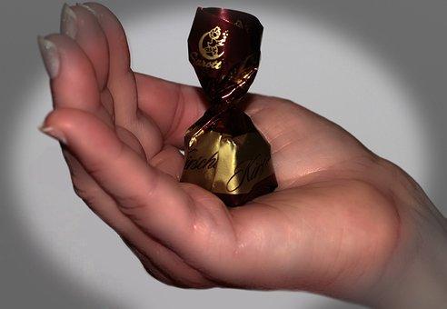 Hand Fingers, Vignette, Sweetness, Brown, Chocolate