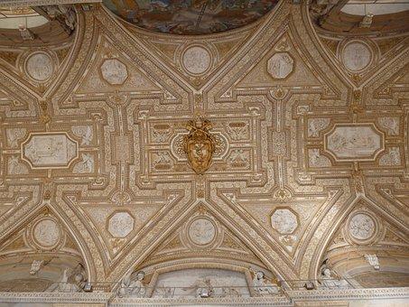 Ceiling, Vatican, St Peters, Detail, Papal Crest