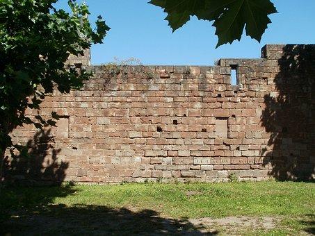 Wall, Stiftskirche, St Arnual, Brick Wall, Construction