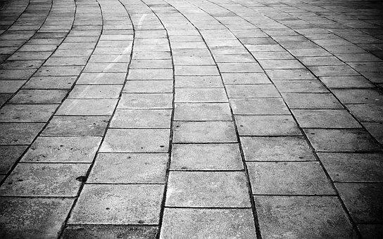 Grey, Stone, Background, Land, Track, Surface