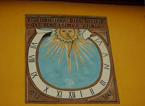 Clock, Sundial, Neuenkirch Am Brand, Bavaria, Time Of