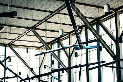 Interior Design, Architecture, Beams, Windows, Ceiling