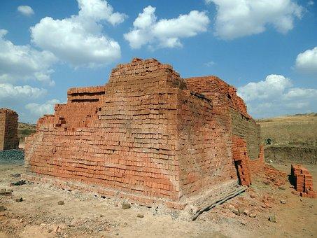 Sky, Brick-laying, Brick-making, Brick-kiln, Dharwad