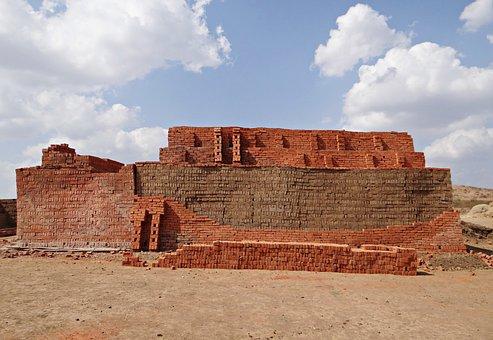 Country-side, Brick-laying, Brick-making, Brick-kiln