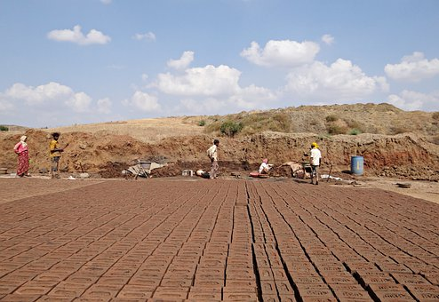 Brick-laying, Brick-making, Brick-kiln, Worker, Dharwad