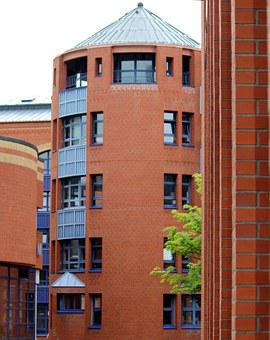 Building, Tower, Clinker, Red, Bricks, Architecture