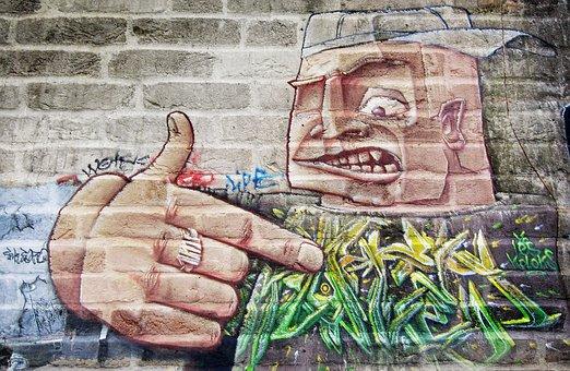 Bricks, Wall, Spray, Grafitti, Painted, Berlin Wall