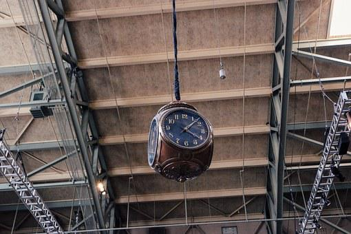 Clock, Time, Vintage, Old, Hour, Building, Seattle