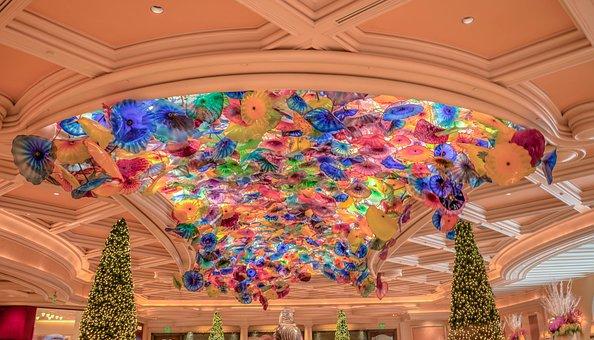 Bellagio, Casino, Las Vegas, Ceiling, Glass Sculpture