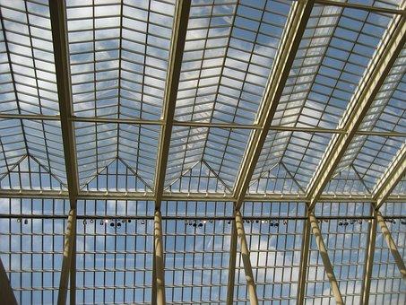 Ceiling Glass, Museum, Metropolitan, City, New York