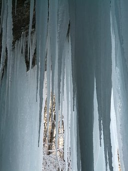 Icicle, Ice Curtain, Ice Formations, Cave, Cold