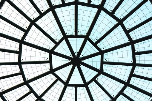 Building, Nikon, Color, Ningbo, Glass, Dome, Ceiling