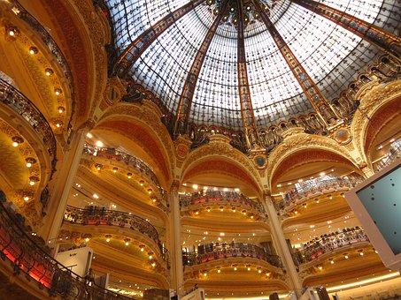 Lafayete Gallery, Galerie, Ceiling, Dome, Paris