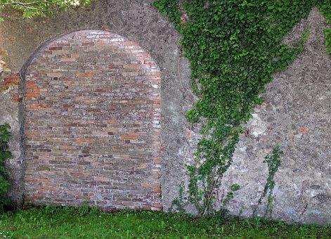 Wall, Masonry, Goal, Door, Gate, Stone, Bricked Up
