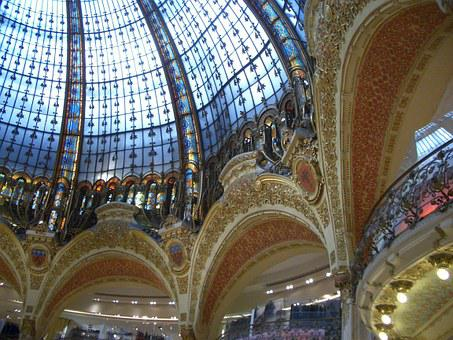 Glass Dome, Gallery Lafayette, Lafayette, Ceiling View