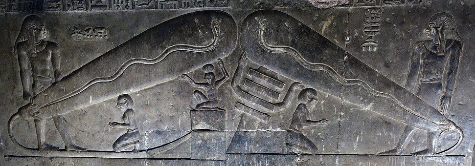 Stone Relief, Egypt, Ancient, Temple, Hathor Temple