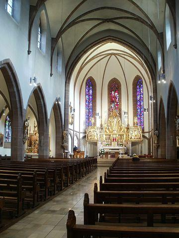 Church, Interior, Herz Jesu, Altenwald, Building